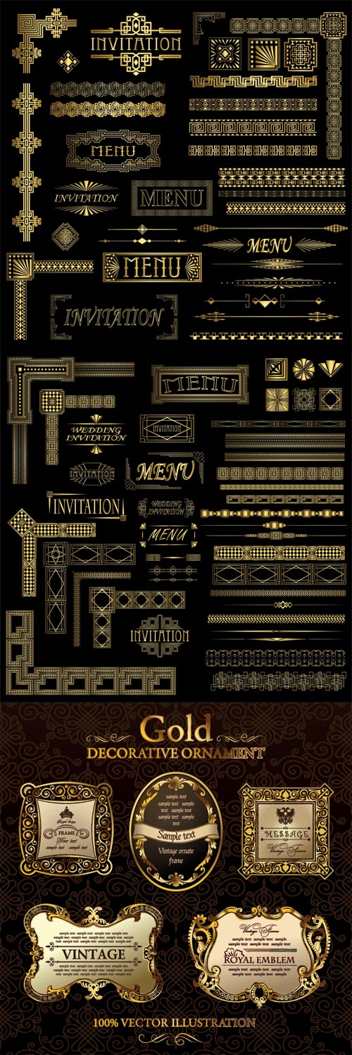 Gold Decorative Ornamen