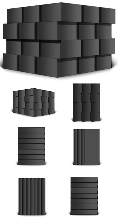 7 3D Cube Mock-ups Templates