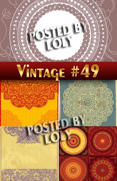 Vintage backgrounds #49 - Stock Vector