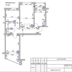 Дизайн-проект интерьера типовой трехкомнатной квартиры (Серия домов АППС
