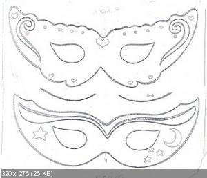 Карнавальная маска своими руками для детей шаблоны