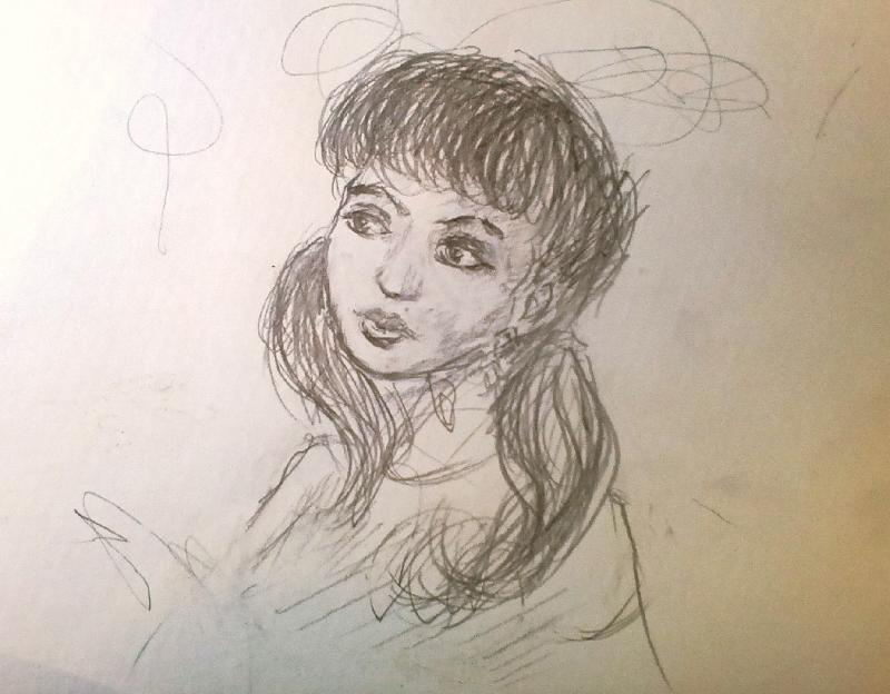 Рисунок для тети карандашом
